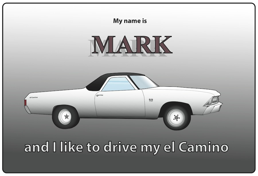 Name Tag El Camino